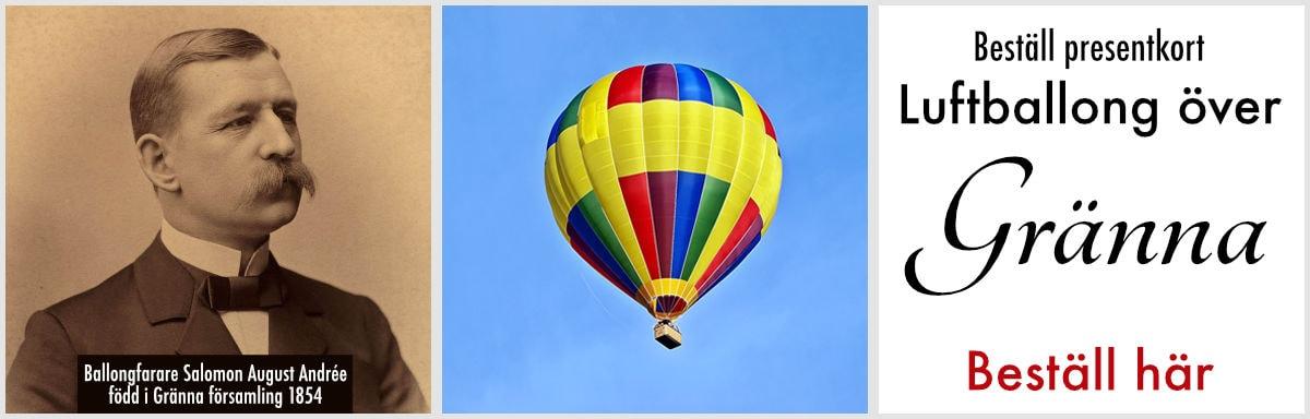 Åka varmluftballong över gränna