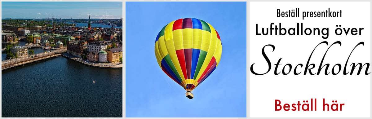Luftballong i Stockholm