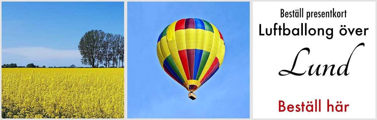 Flyga luftballong lund