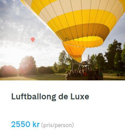 luftballong för en