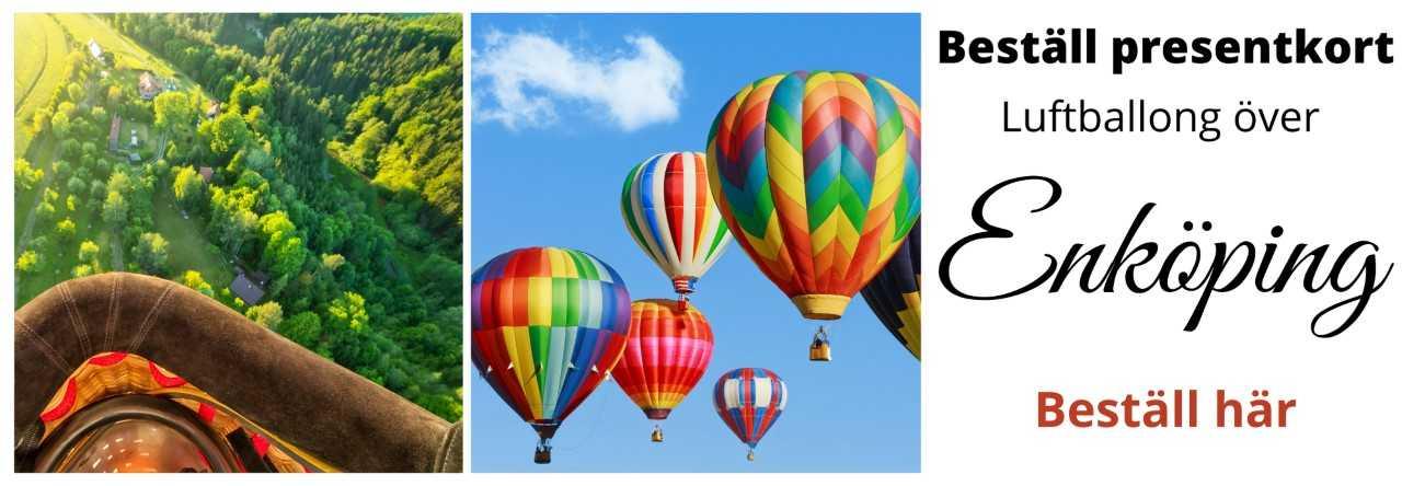 Flyga luftballong över Enköping beställ här