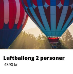 luftballong 2 personer